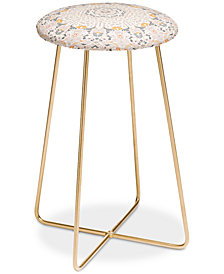 Deny Designs Monika Strigel Boho Summer Gray Counter Stool