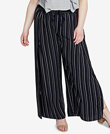 RACHEL Rachel Roy Trendy Plus Size Split Wide-Leg Pants