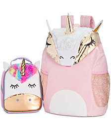 Little & Big Girls Unicorn Backpack & Accessory Innovations Lunch Bag