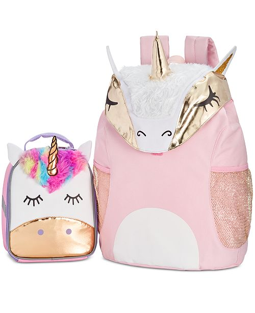 adccd1e0a0e FAB Little & Big Girls Unicorn Backpack & Accessory Innovations Lunch Bag