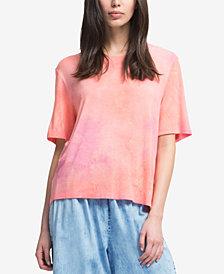 DKNY Crew-Neck Tie-Dye T-Shirt