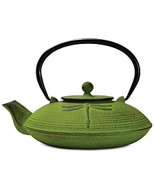 Dragonfly 26-Oz. Cast Iron Teapot & Infuser