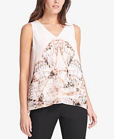 DKNY Printed Tank Top, Created for Macy's