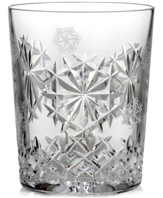 2018 Snowflake Wishes Happiness Double Old-Fashioned Glass