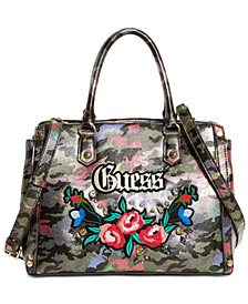 GUESS Badlands Camouflage Satchel