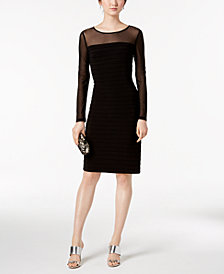 Adrianna Papell Illusion Bodycon Dress