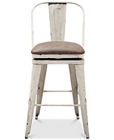 Distressed Bar Stool, Quick Ship
