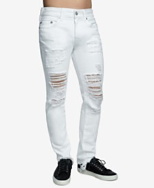 True Religion Men's Rocco Ripped Skinny Fit Stretch Jeans