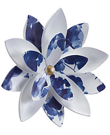 Zuo Margarita Large Wall Decor White & Blue