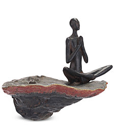 Zuo Thinking Figurine Wall Decor Bronze
