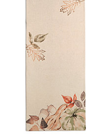 "Elrene Decorative Gourds 13"" x 90"" Table Runner"