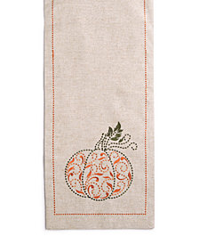 "Lenox French Perle Pumpkin 14"" x 70"" Table Runner"