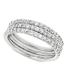 Giani Bernini Cubic Zirconia Stackable Ring Set in Sterling Silver (2-1/5 ct. t.w.), Created for Macy's