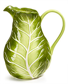 Martha Stewart Collection Farmhouse Cabbage Pitcher