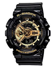 G-Shock Men's Analog Digital Black Resin Strap Watch GA110GB-1A