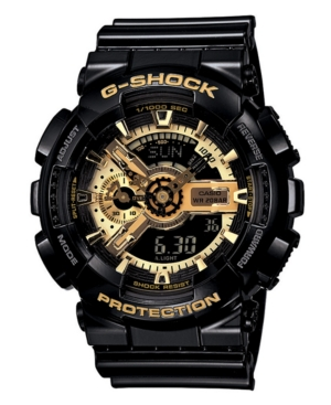 G-Shock Men's Analog Digital Black Resin Strap Watch GA110GB-1A
