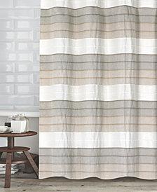 """Popular Bath Hellen Cotton Stripe 72"""" x 72"""" Shower Curtain"""