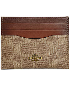 COACH Signature Flat Card Case