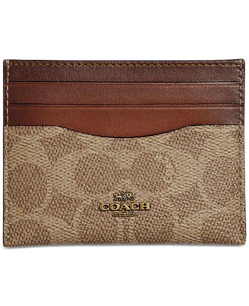 66407f4d12b2 COACH Signature Flat Card Case & Reviews - Handbags & Accessories ...
