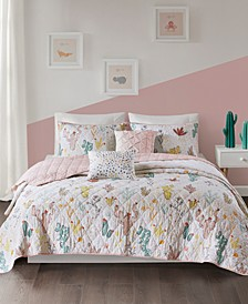 Desert Bloom 5-Pc. Full/Queen Cotton Coverlet Set