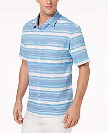 Tommy Bahama Men's Breakwater Space-Dyed Stripe Camp Shirt