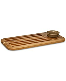 Pantryware Teak Wood Bread Board & Dipping Dish
