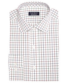 Club Room Men's Classic/Regular Fit Stretch Wrinkle-Resistant Multi-Tattersall Dress Shirt, Created for Macy's