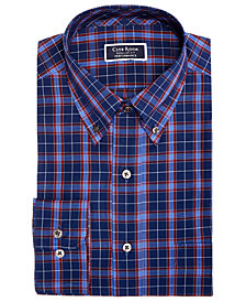 Club Room Men's Slim-Fit Plaid Performance Dress Shirt, Created for Macy's
