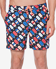 "Original Penguin Men's Popsicle-Print 6"" Swim Trunks"