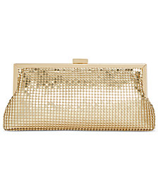 I.N.C. Khyler Mesh Frame Clutch, Created for Macy's