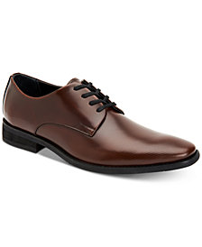 Calvin Klein Men's Ramses Box Leather Textured Derby Shoes