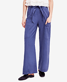 Free People Bluebell Belted Wide-Leg Pants
