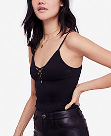 Free People Crossfire Seamless Lace-Up Camisole