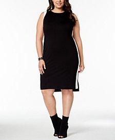 I.N.C. Plus Size Colorblocked Sheath Dress, Created for Macy's
