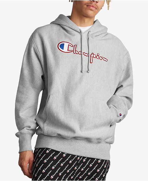 2af9aad4932d Champion Men s Reverse Weave Logo Hoodie   Reviews - Hoodies ...