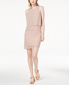 Maison Jules Petal-Overlay Shift Dress, Created for Macy's