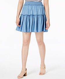 Maison Jules Tiered Pull-On Skirt, Created for Macy's