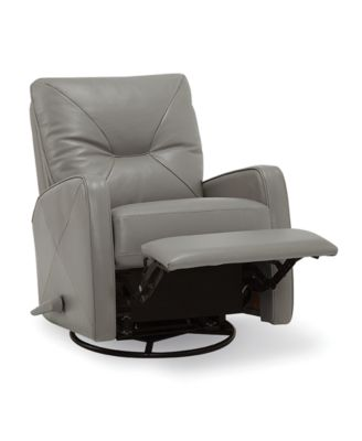 Finchley Leather Swivel Pushback Recliner