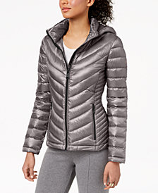 Calvin Klein Petite Hooded Puffer Coat