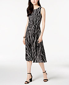 Jessica Howard Printed Midi Dress