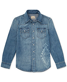 Polo Ralph Lauren Big Boys Cotton Denim Western Shirt