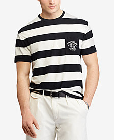Polo Ralph Lauren Men's Classic Fit Embroidered Stripe T-Shirt