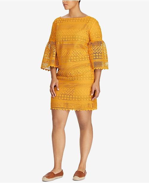 Lauren Ralph Lauren Plus Size Lace Dress & Reviews - Dresses ...