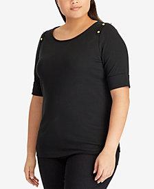 Lauren Ralph Lauren Plus Size Embroidered Top