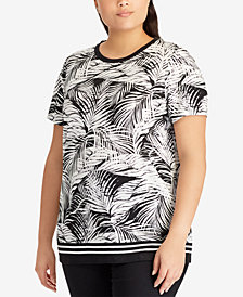 Lauren Ralph Lauren Plus Size Graphic-Print Top