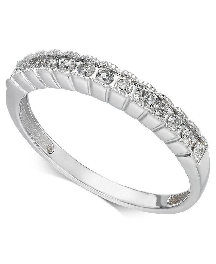 Macy's - Diamond Band (1/5 ct. t.w.) in 14k White Gold