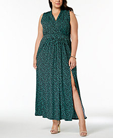 MICHAEL Michael Kors Plus Size Leopard Print Maxi Dress
