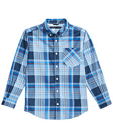 Tommy Hilfiger Big Boys Topher Plaid Cotton Shirt