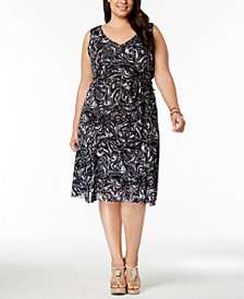 MICHAEL Michael Kors Plus Size Swirl-Print Dress