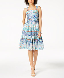 Vince Camuto Multi Paisley A-Line Dress